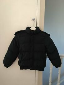 Boy's Hugo Boss Coat - Blue - Age 8 Years - Very Good Condition