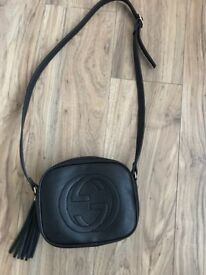 Black leather bag- brand new never used