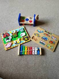 Various wooden toys