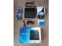 PlayStation 4 (PS4) 500GB Black WITH 2 GAMES & Triton Headset , Fully Working. Comes fully Boxed.