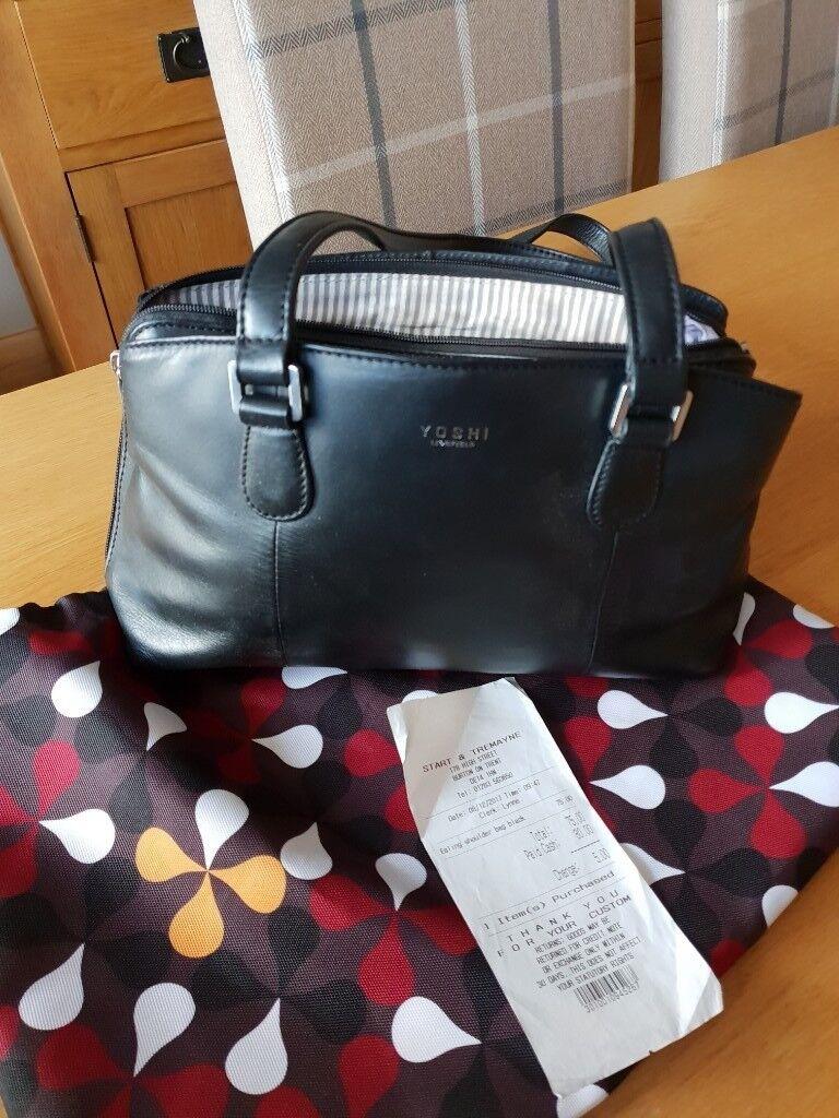 Yoshi Black Handbag With Dust Bag