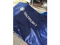 Outdoor Suzuki motorbike cover