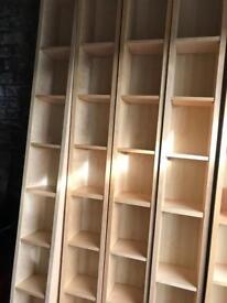Ikea dvd / C.D. / book towers -