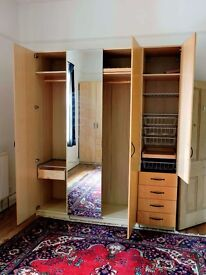 Various furniture - Ikea wardrobes, sofas, vintage cupboard, king bed, bookshelves, antique chairs