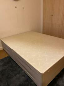 Double size divan bed