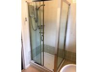 Chrome and glass shower enclosure now reduced in price absolute bargain £50 ono
