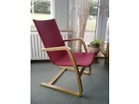 """Red Laminated Beech Frame """"Stockholm"""" Chair"""