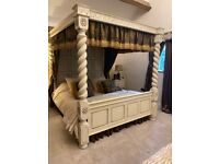 Four poster solid oak four poster bed super king