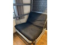 Single futon metal sofa bed