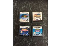 Sonic / Mario Ds Games plus Mario Case and stylus