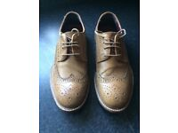 Boys Brown Leather Brogues size 6