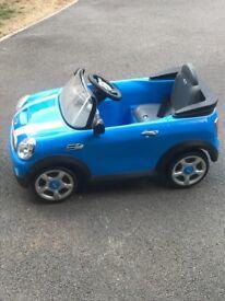 Children's battery powered Mini Cooper