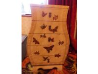 Unusual stylish chest of drawers with some slight damage