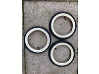 3 x Genuine Phil & Teds Pushchair Buggy Tyres & Inner Tubes