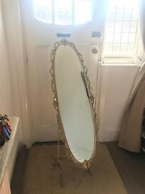 Vintage French cast iron chevalier mirror