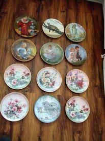 job lot of 12 x boxed collectors plates - Bradex Reco etc.