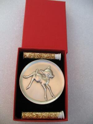 2.3 OZ BAMBI DISNEY KIRK COLLECTION 1974 RELIEF .925 SILVER COIN VERY RARE GOLD - $229.95