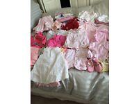 Baby girls 0-3 months