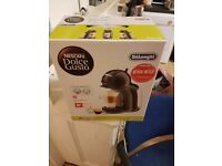 Dolce Gusto Coffee Machine. Amazing machine lively coffee and cheap pods. CO