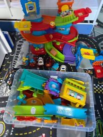 Toot-Toot Drivers® Police Patrol Tower and train toy.