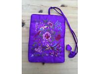 Brand new (unwanted gift) Purple Satin with embellishment Jewellery Wrap