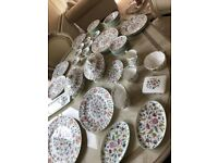 71 piece Minton Haddon Hall dinner service made in England fine china