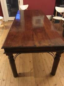 Dining table solid teak wood