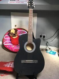 Acoustic guitar beginners kids steel strings bag stand strap included