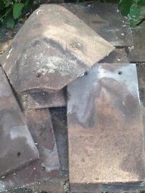 Roof tiles incl Bonnets