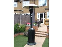 Patio heater with gas bottle. VGC. Full working order.