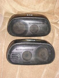 PAIR PYE SP86 3 WAY BASS REFLEX CAR SPEAKERS 100 watts 4 ohm