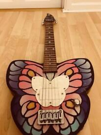Limited addition daisy rock butterfly electric guitar