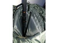 Fishing rods + tones of kit, stool, bag, rod holder