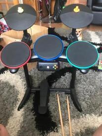 Guitar hero bundle - drums, guitar and more! Xbox 360