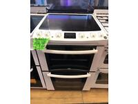 ZANUSSI 60CM CEROMIC TOP ELECTRIC COOKER IN WHITE