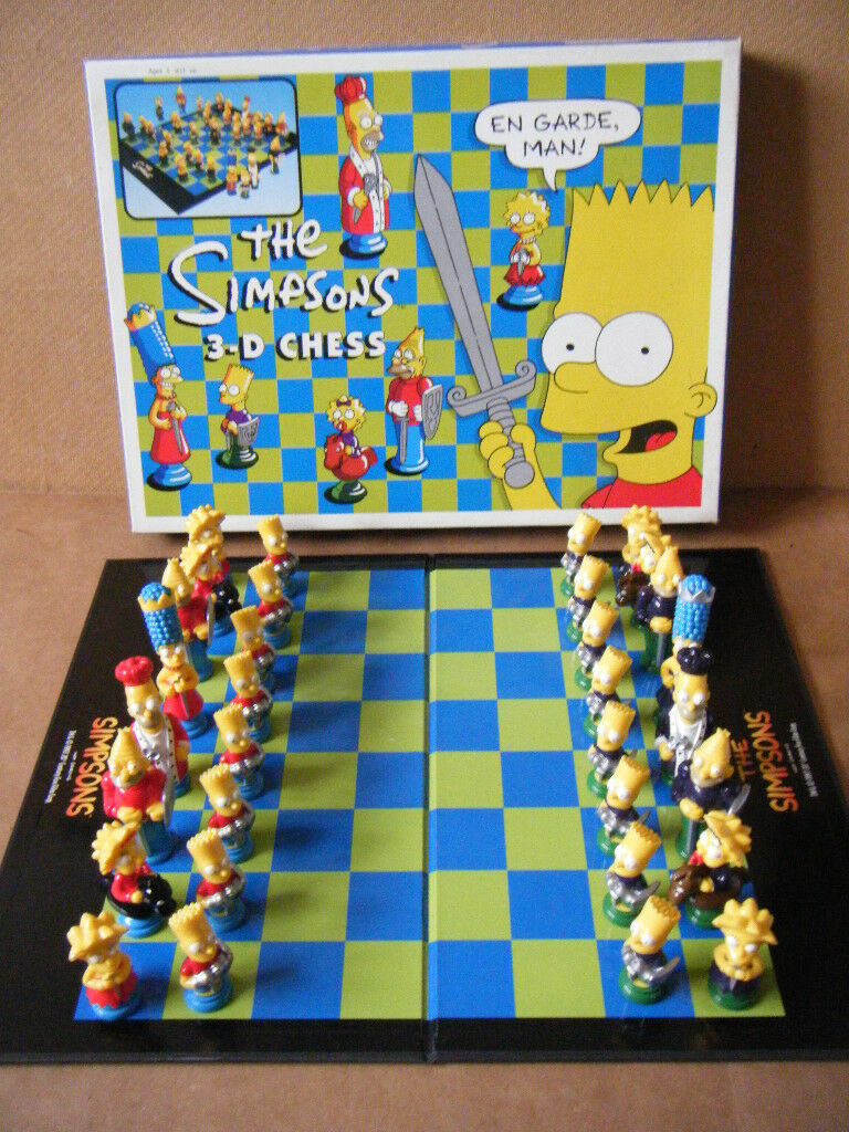 (The Simpsons 3D Chess Set) board game. By 20th Century Fox 1997. Excellent and complete.