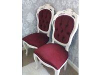 Matching pair of french Louis style chairs