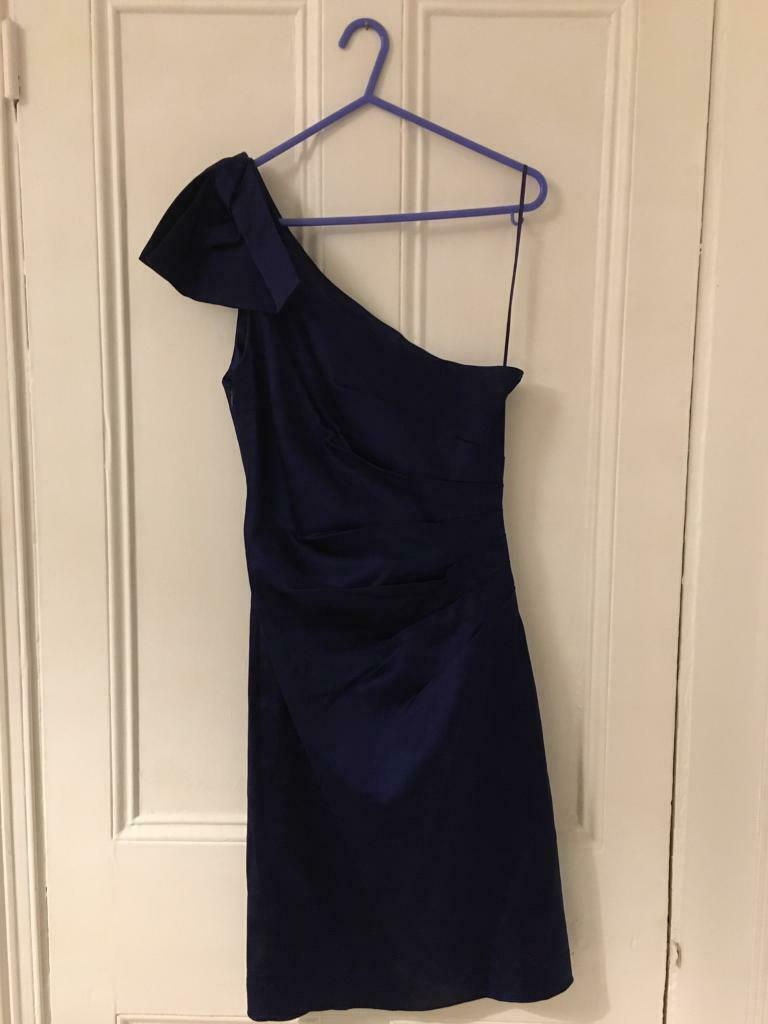f9603af501d4 Size 10 'Belle by Oasis' Midnight Blue One Shoulder Evening Dress ...