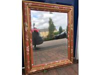 Mirror, 75cm x 50cm with decorated frame and high quality mirror.