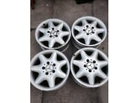 4x MERCEDES C220 ORIGINAL ALLOYS
