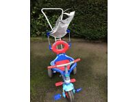 Tricycles with handle to push