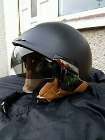 Motorbike helmet open face Large