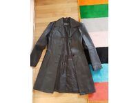 Real genuine leather coat/jacket fit size 8