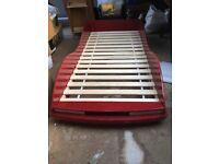 Child's Car shaped single bed& mattress