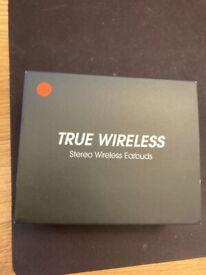 """""""True wireless"""" stereo wireless earbuds"""