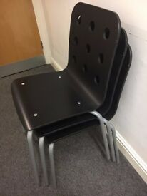 Black Office/Meeting Room Chairs x3