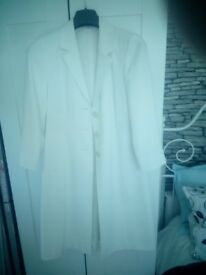 Ladies Ivory Full Length Coat