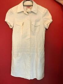 Vintage short-sleeved GUESS JEAN white dress