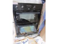 Zanussi Electric Built in Double Oven and Whirlpool Gas Hob