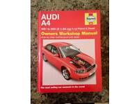 Haynes Manual Audi A4 01-04